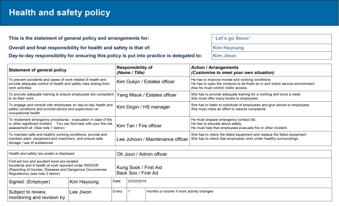 health and safety task 1 A risk based approach to compliant task and activity planning published: august 2012 version 13 authorised by uwa safety and health review: august 2017 page 1 of 47 this document is uncontrolled when printed - the current version is on the safety and health website contents 1 introduction.